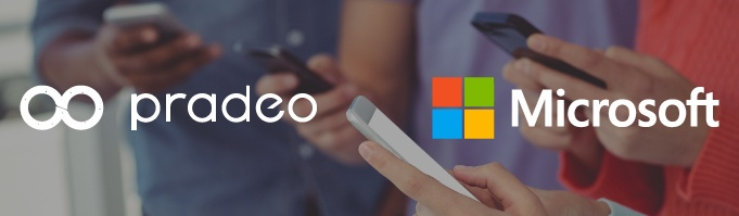 Pradeo announces a new partnership with Microsoft at the Mobile World Congress 2018